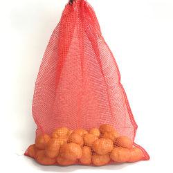 Null überschüssiger organischer Gemüsefrucht-Brennholz-essbare Meerestieredrawstring-Baumwollemehrfachverwendbarer pp. PET Linon-Netz-Ineinander greifen-Beutel-umweltfreundliches Einkaufen