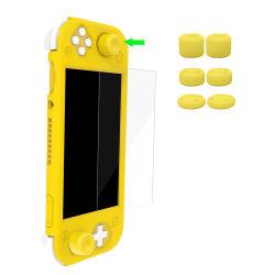 Film Thumbstick GLB van de Beschermer van het Glas van het Geval van de Dekking van de Huid van het Silicone van de Uitrusting van het Pak van het spel de Beschermende voor de Console van Lite van de Schakelaar van Nintendo