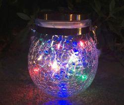 Водонепроницаемый многоцветный висящей лампы стекла трещины ландшафтного сада лампы
