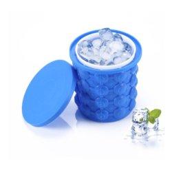 Ведро для льда, небольшой силиконовый ведро для льда и ледяной пресс-форма с крышкой, компактный кубик для льда, портативный силиконовый кубик для льда Esg11960