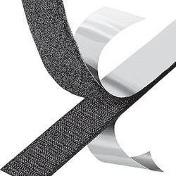 Starke schwarze elastische Haken-und Schleifen-Befestigungsteil-Brücke 4 Zoll breiter Flausch, Haken u. Schleifen-Band selbstklebend für Verbände
