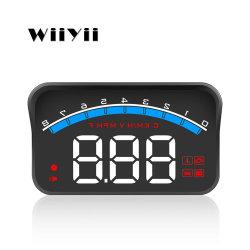 """مصنع Wiiyii السعر 3.5"""" الشاشة M6s Mini HUD رأس السيارة عرض أعلى منبهات التسخين الزائد OBD2 نظام عداد السرعة"""