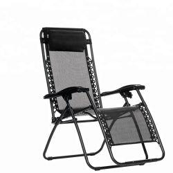 Commerce de gros Beach Camping Bureau chaise pliante avec matelas de gris