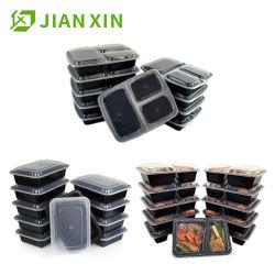 Umweltfreundlicher biodegradierbarer Mitnehmerwegwerfplastikmahlzeit-Vorbereitungs-Nahrungsmittelbehälter mit Kappen