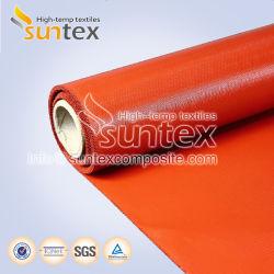 Tecido revestido a borracha de silicone resistente ao calor para cortinas de túnel retrácteis