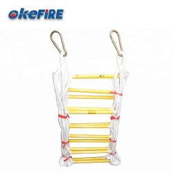 Okfire Fire s'échapper la corde de sûreté sur le fil de l'échelle pliable