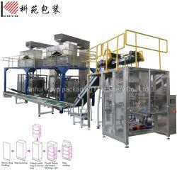 Automatische Beutel-in-Beutel Ballenpresse primäre und sekundäre Verpackungsmaschine für die Füllung Bailing Verpackung Samen, Pulver, Reis, Salz, Zucker, Weizenmehl, Lebensmittel, Bohnen, Getreide