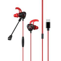 Auricular de CS Juegos Juegos de PC Gamer control de volumen de micrófono con auriculares.