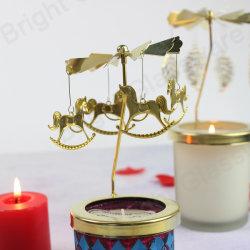 크리스마스 장식적인 교체 말 초 Tealight 홀더, 테이블 저녁식사 금속 풍차 유리제 촛대 홀더 대