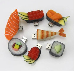 ذاكرة فلاش USB PVC مخصصة بطاقات OEM Sushi Pendrive