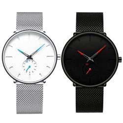 Shenzhen dom de moda de fábrica de qualidade superior do homem 316L Classic Marca Quartzo relógio de pulso OEM