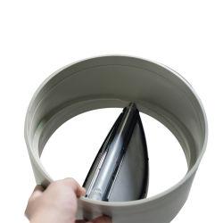 DN15-450mm PP 플라스틱 에어 댐퍼 점검 밸브 버터플라이 컨트롤 밸브 공기 환기