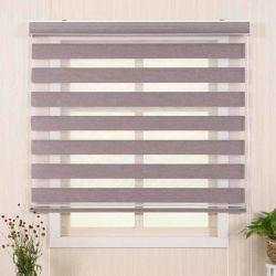 Couleur chaude Hot Sale rouleau Stores Zebra fenêtre horizontale de l'ombre aveugles stores à rouleau double Zebra jour et nuit les stores rideaux, facile à installer