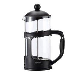 12オンスのステンレス鋼のこし器が付いている耐熱性ブラックコーヒーのフランス人の出版物のコーヒーメーカー