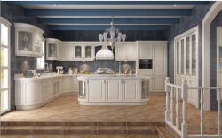 Electrical Pull Baskets를 가진 좋은 New Project Stylish Solid Wood Kitchen Cabinets