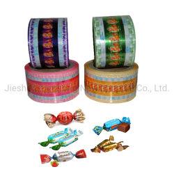 Il materiale di pellicola a pacco del di alluminio ha metallizzato la pellicola di torsione di PVC/Pet per lo spostamento della caramella