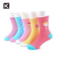 100% algodón orgánico bebé calcetines calcetines de chicas coreanas para niños