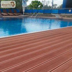 Pavimentazione di plastica di legno di bambù esterna di Decking WPC della Cina della piattaforma composita