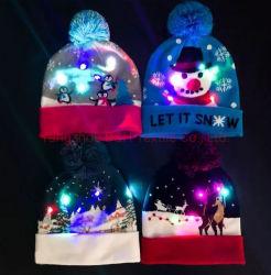 A luz de LED personalizados de Natal até aquecer Hat/ levou Beanie Hat/ Inverno LED HAT