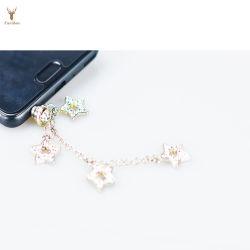 Spina su ordinazione della polvere del metallo della nappa dei regali del telefono mobile per la promozione