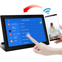 10-дюймовый цифровой фоторамки мини супермаркет рекламы на панели дисплея с датчиком движения