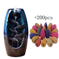 L'encens Cascade Brûleur portatif de la résine de cône de luxe le refoulement de l'Encens Brûleur Céramique