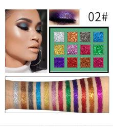 12-metálico de color Maquillaje de polvo de purpurina High-Gloss la sombra de ojos