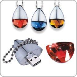 Cristal luxo Colar Unidade Flash USB Disk Senhora dom 16GB