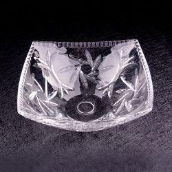Plaat van het Fruit van het Voedsel van het Glas van het Restaurant van China de Diamantvormige