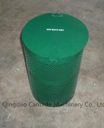 Caixote do lixo de alta qualidade de aço e alumínio público para a Estação de resíduos de cães