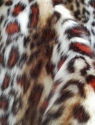 Leopard Fausse Fourrure jacquard à trois couleurs