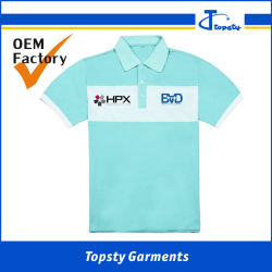 De naar maat gemaakte van de Katoenen van het Personeel Eenvormige T-shirts Unisex- Regelmatige Geschikte Hals van het Polo