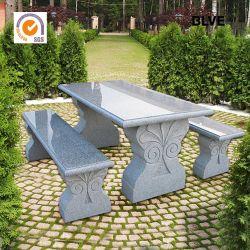 Jardin naturel en extérieur Tables et bancs en pierre pour la maison Mbg-06