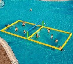 Campo galleggiante all'aperto campo da pallavolo gonfiabile acqua gonfiabile