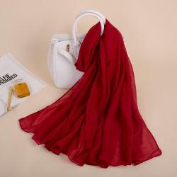 Vendre divers couleur chaude Cheap Foulard Foulard musulman polyester ordinaire pour les femmes