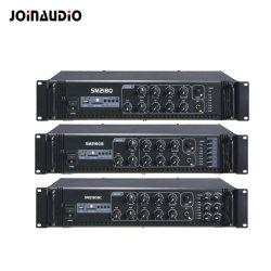 De openbare Versterker van de Macht van het Adres met 5 Mic Input USB/LCD/MP3