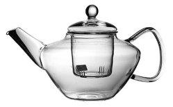 teiera di vetro rotonda su ordinazione di Pyrex Handblown della cucina 800ml con acciaio inossidabile Infuser