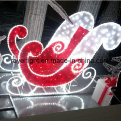 예쁜 썰매 크리스마스를 점화하는 옥외 휴일은 LED 주제 빛을 장식한다