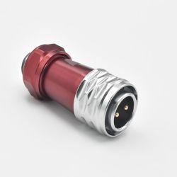 2 контактный водонепроницаемый разъем питания круговой тип Мужчин Женщин металла