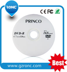 Prix bon marché de gros de Princo DVD pour 16X 4.7GB DVD-R vierge