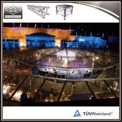 Eventos ao ar livre fase de alumínio Truss treliça de iluminação com canópia do tejadilho