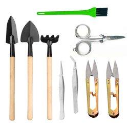 Bonsai Outils Définit Kit Deluxe 9 pc plante d'outils de jardinage