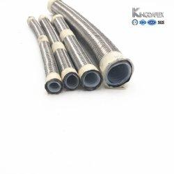 Tressé en acier inoxydable doublé de Téflon souple du tuyau flexible en silicone SAE100 R14