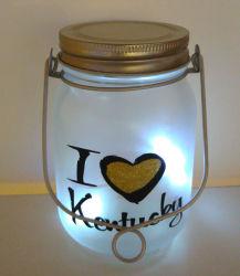 L'extérieur ou une utilisation en intérieur Design mignon alimenté par batterie lanterne LED en verre pour les enfants ou de la partie de la décoration