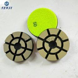 La Chine usine Outils en diamant de gros liant céramique disque abrasif Tampon à polir pour plancher de béton Meulage et polissage.