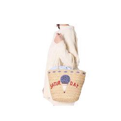 La Chine usine Fashion Handmade Mesdames sac à main personnalisé desacs de pailleFemmessac d'osier de plage