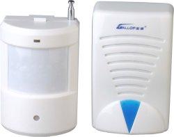 Elektrofühler-drahtlose Warnungs-Türklingel der schutz-Uhr-PIR