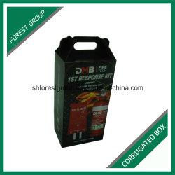 E флейты гофрированного картона картонная коробка для упаковки огнетушителя