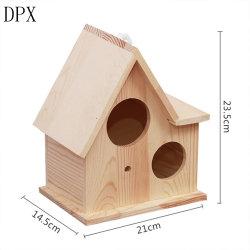 Produits en Pet Bird Cage Pet Pet chaud d'alimentation de la vente de produits artisanaux en bois de pin solide personnalisé de la chambre d'oiseaux