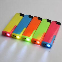 방풍 조명 LED 전자 플라스틱 담배 LED 라이터